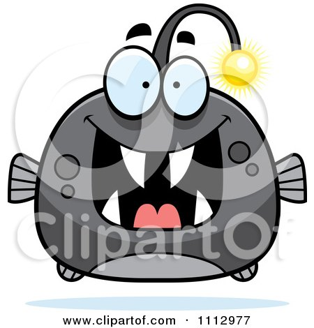 Clipart Excited Viperfish - Royalty Free Vector Illustration by Cory Thoman