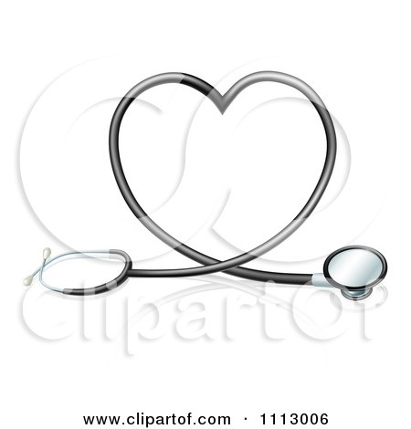 Clipart 3d Stethoscope Forming A Heart - Royalty Free Vector Illustration by AtStockIllustration