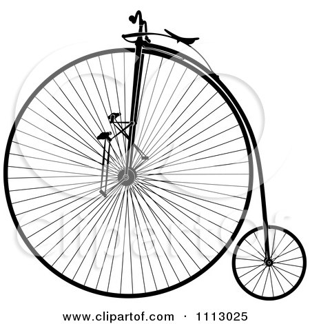 Clipart Vintage Penny Farthing Bike - Royalty Free Vector Illustration by Frisko