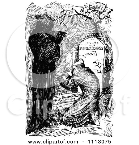 Ebenezer Scrooge Being Visited By The Ghost of Christmas Yet to Come Posters, Art Prints by ...