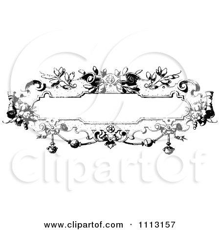 Clipart Black And White Ornate Vintage Frame - Royalty Free Vector Illustration by Prawny Vintage