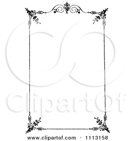 Clipart Black And White Ornate Vintage Frame - Royalty Free Vector Illustration by Prawny Vintage
