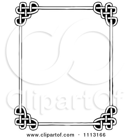 Black And White Celtic Styled Frame By Prawny Vintage