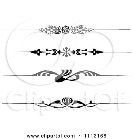 Clipart Vintage Black And White Decorative Art Deco Borders - Royalty Free Vector Illustration by Prawny Vintage