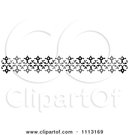 Clipart Vintage Black And White Decorative Border Design Element 1 - Royalty Free Vector Illustration by Prawny Vintage