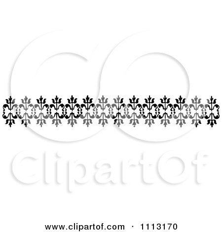 Clipart Vintage Black And White Decorative Border Design Element 2 - Royalty Free Vector Illustration by Prawny Vintage
