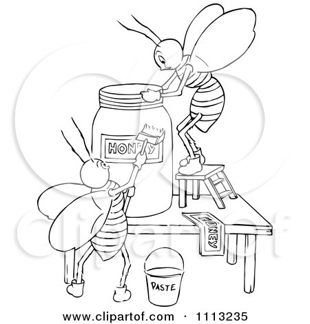 Free Bee Clipart Black And White Clipart Black And White Bees