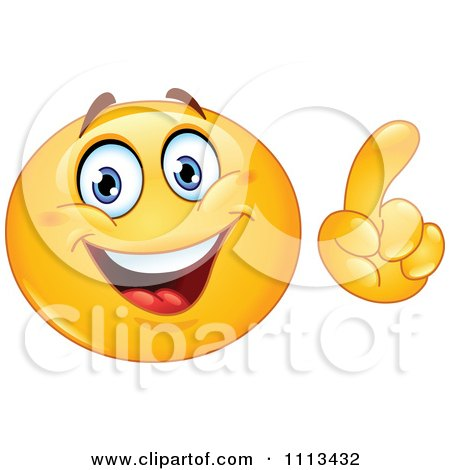Clipart Smart Emoticon Making A Point - Royalty Free Vector Illustration by yayayoyo