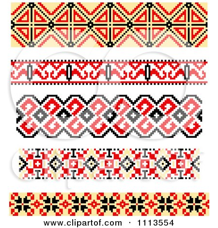 Clipart Native American Style Borders - Royalty Free Vector Illustration by Vector Tradition SM