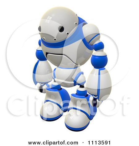 Clipart 3d Rogi Robot Facing Left - Royalty Free CGI Illustration by Leo Blanchette