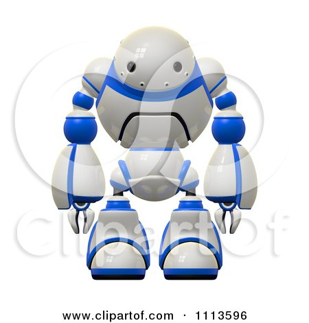 Clipart 3d Rogi Robot Facing Front - Royalty Free CGI Illustration by Leo Blanchette
