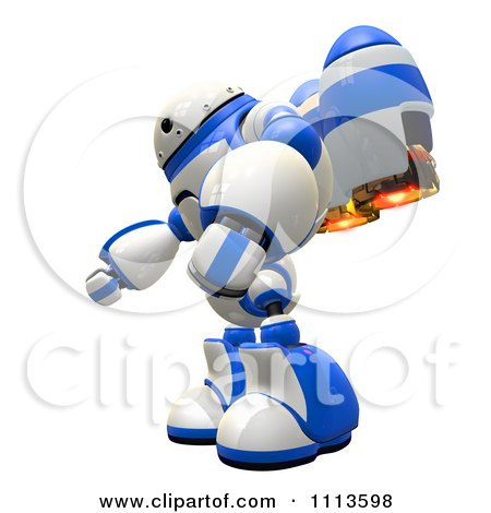 Clipart 3d Rogi Robot With A Jet Pack 1 - Royalty Free CGI Illustration by Leo Blanchette