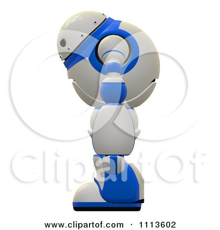 Clipart 3d Rogi Robot In Profile - Royalty Free CGI Illustration by Leo Blanchette