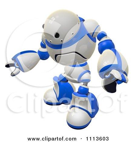 Clipart 3d Rogi Robot Waving 1 - Royalty Free CGI Illustration by Leo Blanchette