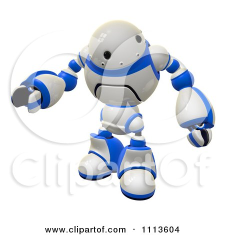 Clipart 3d Rogi Robot Waving 2 - Royalty Free CGI Illustration by Leo Blanchette