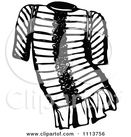 Clipart Vintage Black And White Ancient Chainmail Coat 4 - Royalty Free Vector Illustration by Prawny Vintage
