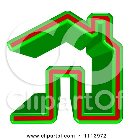 Clipart 3d Green And Red Home Page Icon - Royalty Free CGI Illustration by MacX