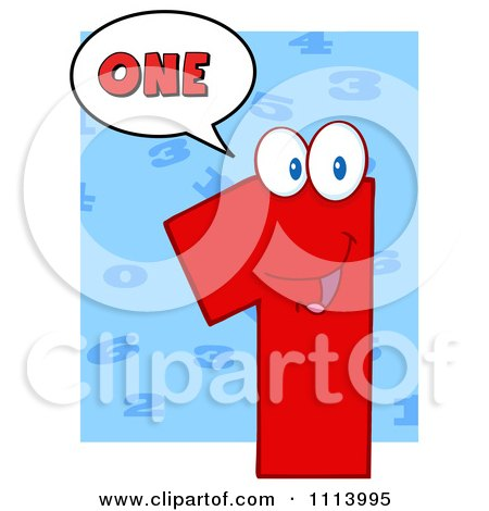 Clipart Talking Red 1 Mascot 3 - Royalty Free Vector Illustration by Hit Toon