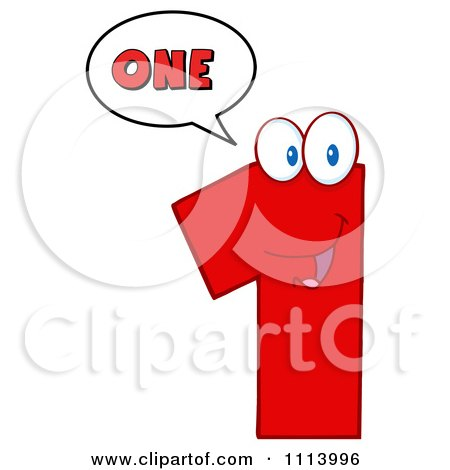 Clipart Talking Red 1 Mascot 2 - Royalty Free Vector Illustration by Hit Toon