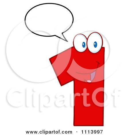 Clipart Talking Red 1 Mascot 1 - Royalty Free Vector Illustration by Hit Toon