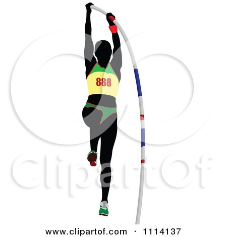 Royalty-Free (RF) Pole Vaulting Clipart, Illustrations, Vector ...