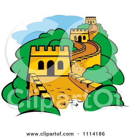 Clipart The Great Wall Of China - Royalty Free Vector Illustration by Vector Tradition SM