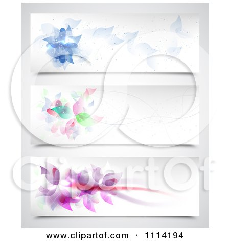 Clipart Abstract Floral Website Headers - Royalty Free Vector Illustration by vectorace