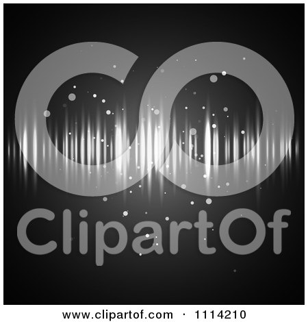 Clipart Background Of Streaks Of Light And Orbs On Black - Royalty Free Vector Illustration by vectorace