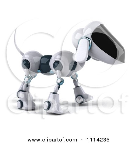 Clipart 3d Robot Dog - Royalty Free CGI Illustration by Julos