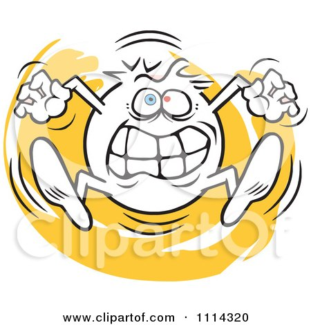 Clipart Angry Moodie Character Going Crazy - Royalty Free Vector Illustration by Johnny Sajem