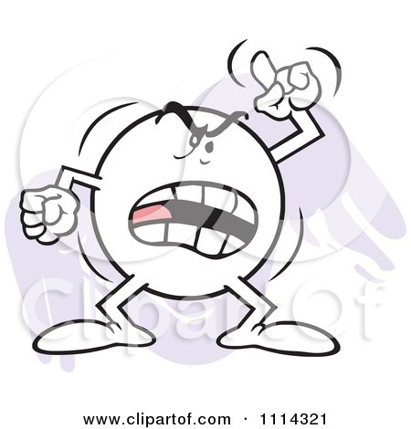 Clipart Angry Moodie Character Waving A Finger And Shouting - Royalty Free Vector Illustration by Johnny Sajem