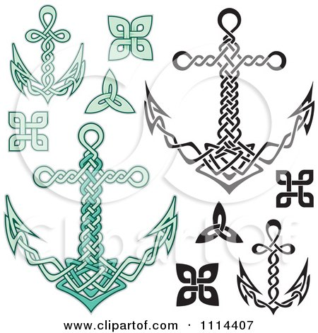 Clipart Nautical Celtic Anchors - Royalty Free Vector Illustration by Any Vector