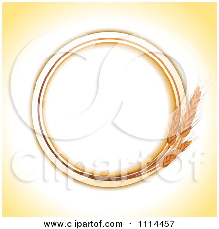 Clipart Round Wheat Frame With Copyspace - Royalty Free Vector Illustration by elaineitalia