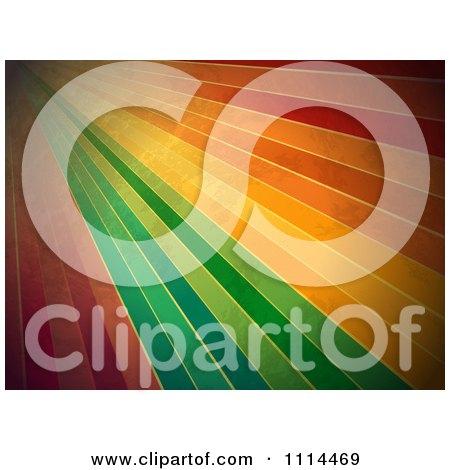 Clipart Grungy Rainbow Lines - Royalty Free Vector Illustration by elaineitalia