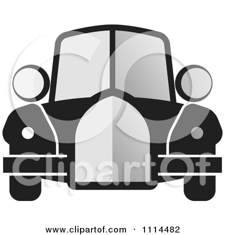 Clipart Vintage Gray And Black Car - Royalty Free Vector Illustration by Lal Perera