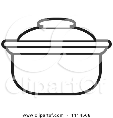 Page Further Frying Pan Coloring Page Also Clip Art Black And White ...