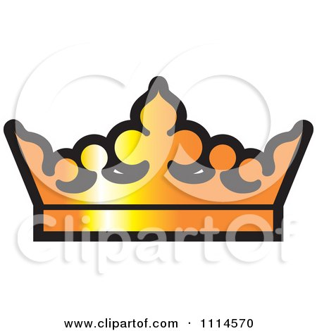 Clipart Golden Crown - Royalty Free Vector Illustration by Lal Perera
