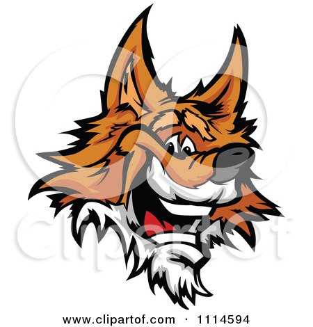 Clipart Friendly Happy Fox Face Royalty Free Vector Illustration