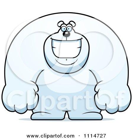 Clipart Happy Buff Polar Bear Smiling - Royalty Free Vector Illustration by Cory Thoman