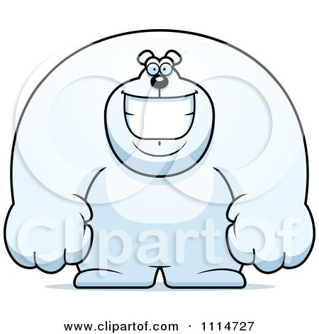 Happy Buff Polar Bear Smiling Posters, Art Prints