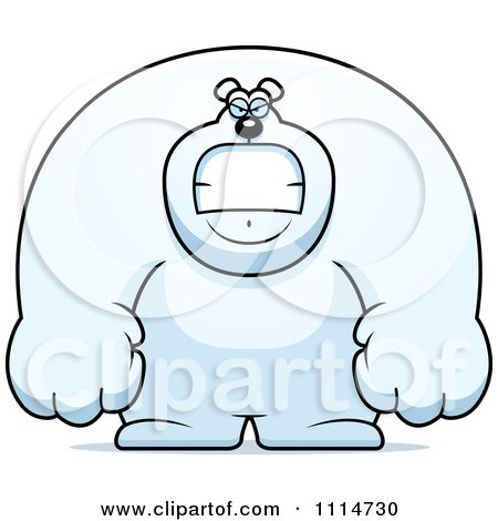 Clipart Angry Buff Polar Bear - Royalty Free Vector Illustration by Cory Thoman