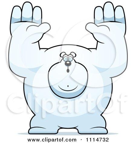 Clipart Buff Polar Bear Giving Up - Royalty Free Vector Illustration by Cory Thoman