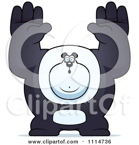 Clipart Buff Panda Giving Up - Royalty Free Vector Illustration by Cory Thoman