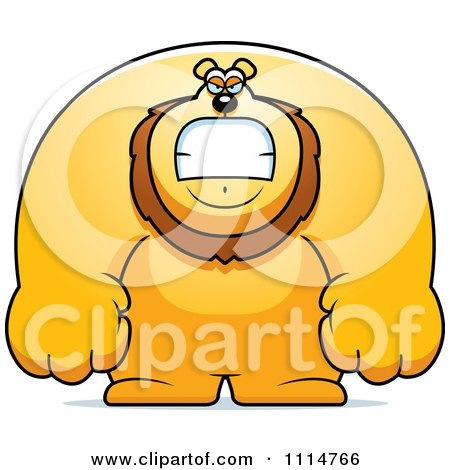Clipart Angry Buff Lion - Royalty Free Vector Illustration by Cory Thoman