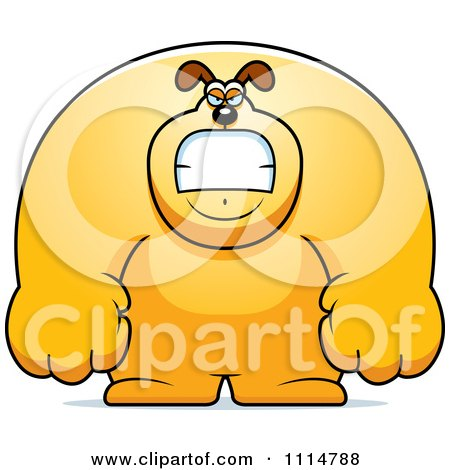 Clipart Angry Buff Dog - Royalty Free Vector Illustration by Cory Thoman