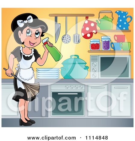 clean kitchen clipart royalty free rf cleaning house clipart illustrations 173