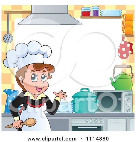 Frame Of A Female Chef Cooking In A Professional Kitchen