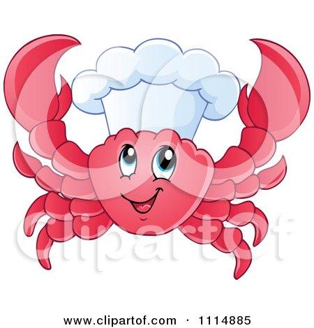 Happy Chef Crab Posters, Art Prints