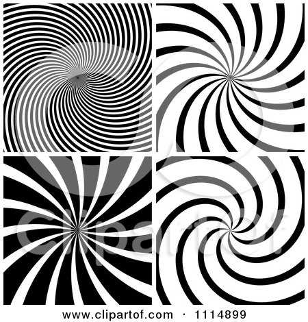 Clipart Black And White Swirl Backgrounds - Royalty Free Vector Illustration by dero