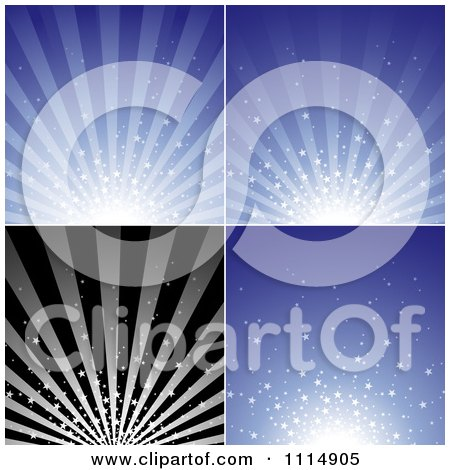 Clipart Star Burst Backgrounds - Royalty Free Vector Illustration by dero
